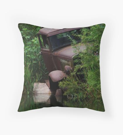 Tow Mader's Last Swim Throw Pillow