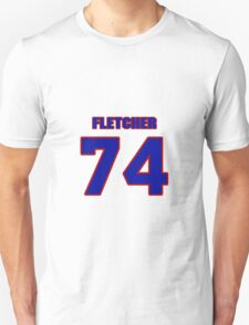 National football player Derrick Fletcher jersey 74 T-Shirt