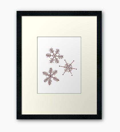 3 Snowflakes Option 3 Framed Print