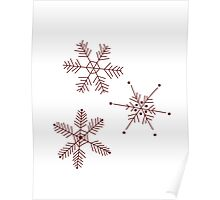 3 Snowflakes Option 3 Poster