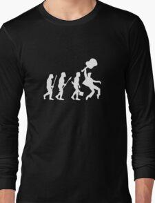 EVOLUTION OF ROCK on dark tee Long Sleeve T-Shirt