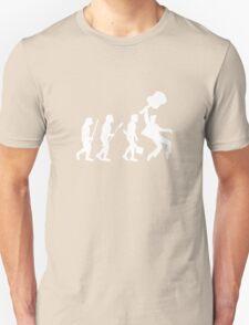 EVOLUTION OF ROCK on dark tee Unisex T-Shirt