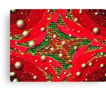 Red For Christmas Canvas Print