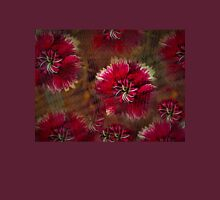 Burgundy flower design Unisex T-Shirt