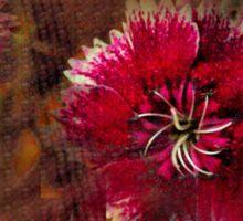 Burgundy flower design Sticker