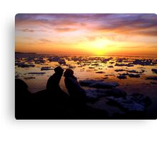 Guys Love Sunsets Too Canvas Print