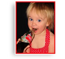 Coke Baby Canvas Print