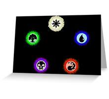 Magic the gathering Mana Circle Greeting Card