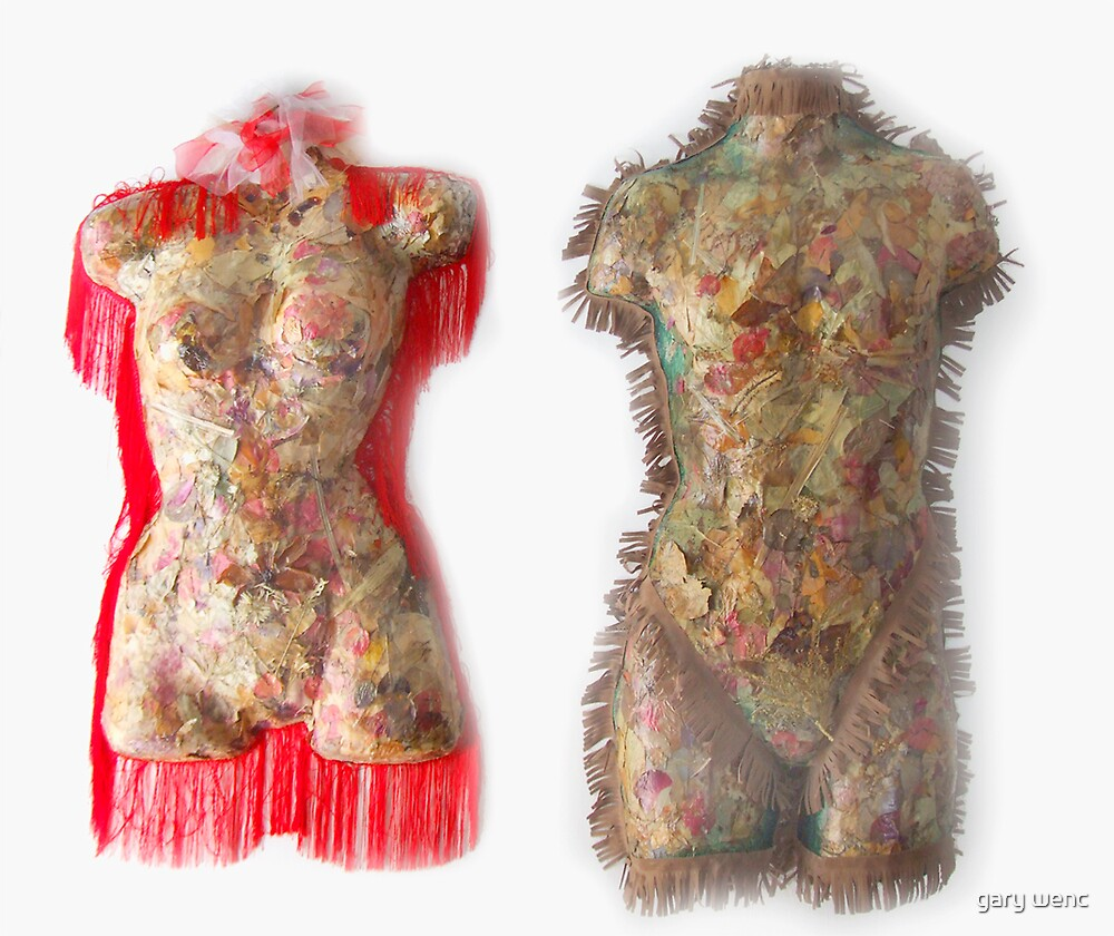 dried floral adam and eve  by gary wenc