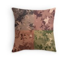 Fall Autumn Leaves 4 Color Design Pattern Throw Pillow