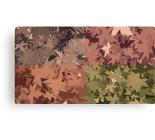 Fall Autumn Leaves 4 Color Design Pattern Canvas Print