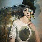 Portrait 11 with Hat by Catrin Welz-Stein