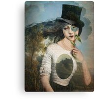 Portrait 11 with Hat Canvas Print