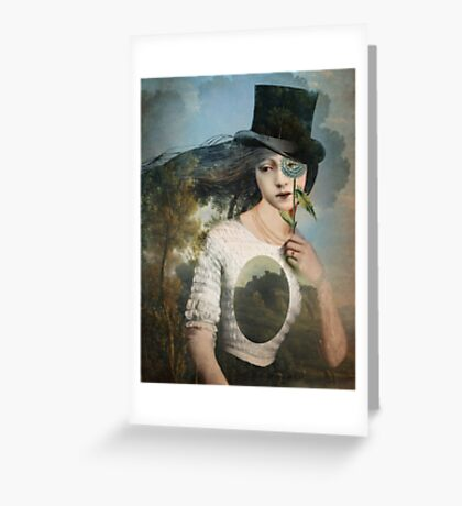 Portrait 11 with Hat Greeting Card