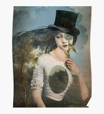 Portrait 11 with Hat Poster