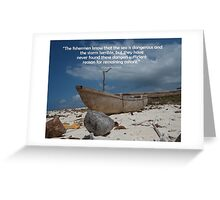 Coconut Boat Greeting Card