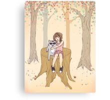 Melissa's Tree - peach Canvas Print