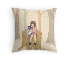 Melissa's Tree - peach Throw Pillow
