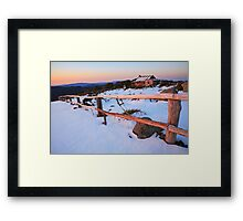 Winter Sunset, Craig's Hut, Australia Framed Print