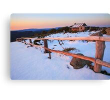 Winter Sunset, Craig's Hut, Australia Canvas Print
