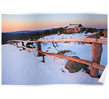 Winter Sunset, Craig's Hut, Australia Poster