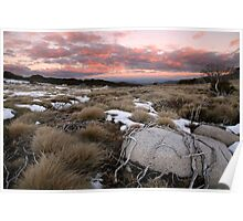 Fall's Creek Winter Sunset, Australia Poster