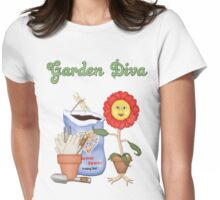 Garden Diva Womens Fitted T-Shirt