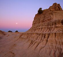 "Moonrise over the ""Walls Of China"", Mungo National Park, Australia by Michael Boniwell"