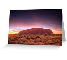 Ayers Rock (Uluru), Sunrise, NT, Australia Greeting Card
