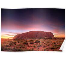 Ayers Rock (Uluru), Sunrise, NT, Australia Poster