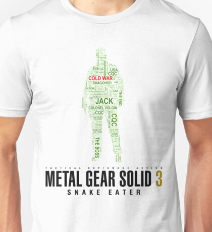 Metal Gear Solid 3 - Snake Eater - Typography  Unisex T-Shirt