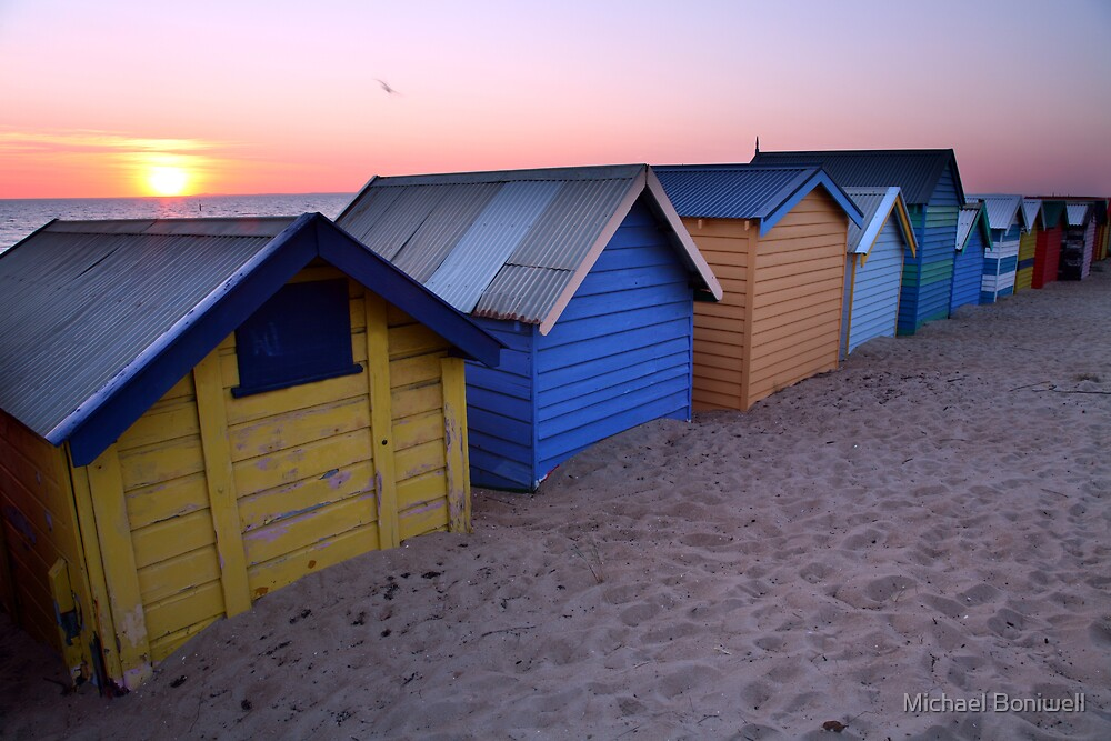 Brighton Beach Boxes, Australia by Michael Boniwell