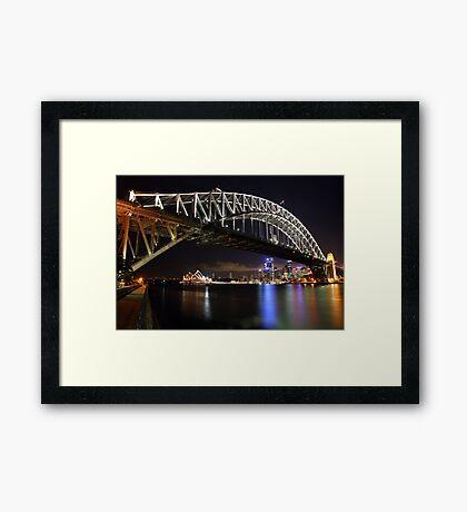 Sydney Harbour Bridge at Night, Australia Framed Print