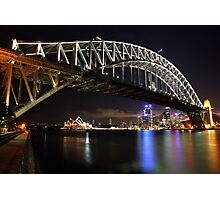 Sydney Harbour Bridge at Night, Australia Photographic Print