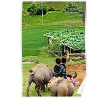 Joyful Children II - Sa Pa, Vietnam. Poster