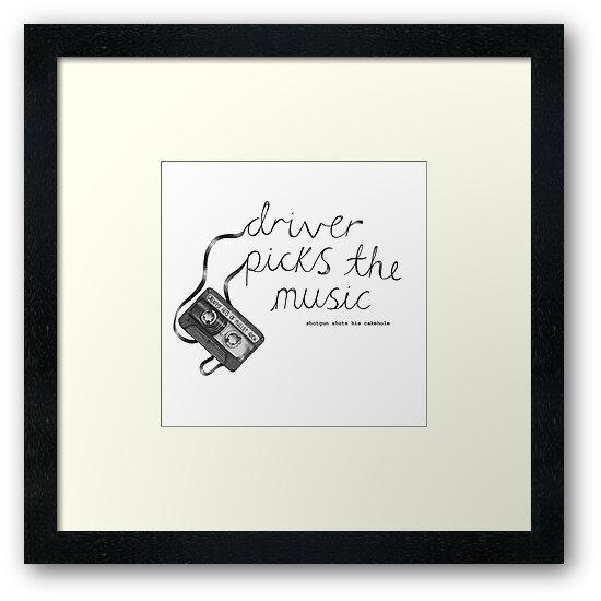 Driver Picks The Music Shotgun Shuts His Cakehole by lovefromdani