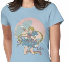 Samurai Moon Womens Fitted T-Shirt