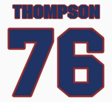 National football player Broderick Thompson jersey 76 by imsport