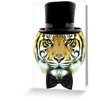 formal tiger Greeting Card