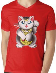 Lucky Venusian Cat Mens V-Neck T-Shirt