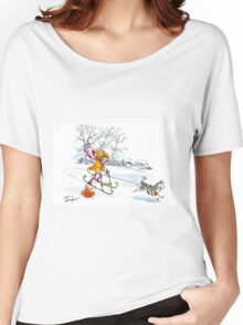 Dogsledding in the city! -largest (posters, prints) Women's Relaxed Fit T-Shirt