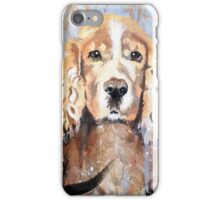 Cocker Spaniel in meadow iPhone Case/Skin