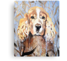 Cocker Spaniel in meadow Canvas Print