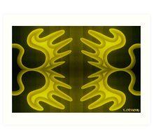 lily lemon-yellow 8 Art Print