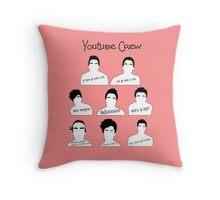 Youtube Crew Throw Pillow