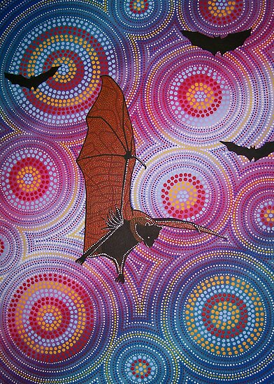 Fruit bat dreaming by Derek Trayner