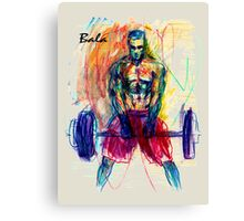 Bala - Rainbow Sketch Canvas Print
