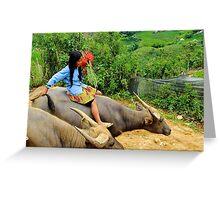 Joyful Children VI - Sa Pa, Vietnam. Greeting Card