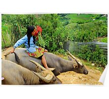 Joyful Children VI - Sa Pa, Vietnam. Poster