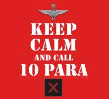KEEP CALM AND CALL 10 PARA Kids Clothes